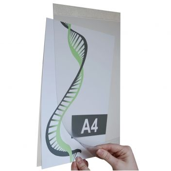 Self adhesive A4 & A3 wall notice holder