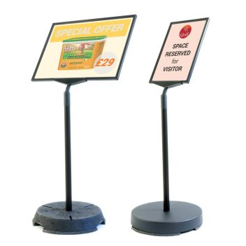 Short outdoor floor stands for A3 and A4