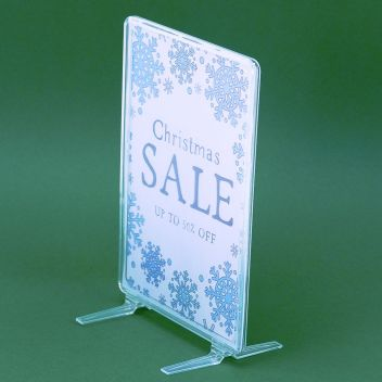 Clear Showcard  POS Frames with Upright support feet