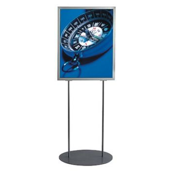 Silver poster stand A2 and A1