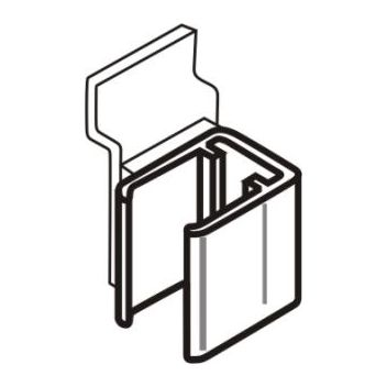 Slatwall Clip for Slim Frames (pair)