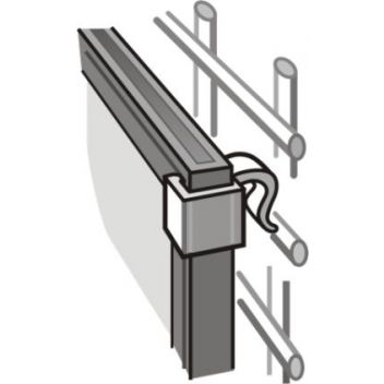 Slim Frame Clips for Wire