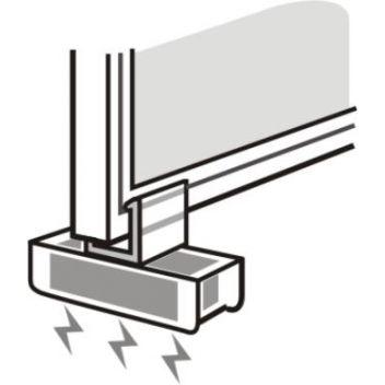 Slim Frame Magnet fastener 90 deg.