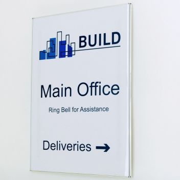 Minimalist office door signs A6-A3