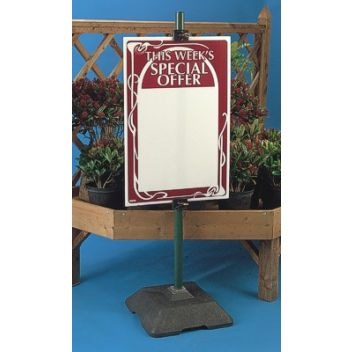 Stable outdoor sign holder stand