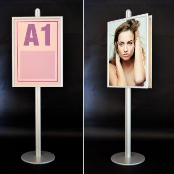 Tall A1 poster display stand