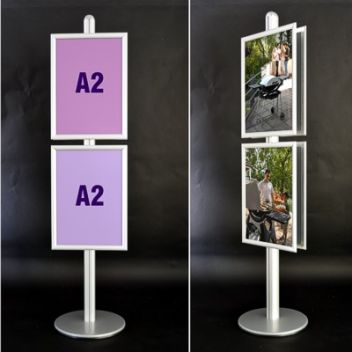 Tall poster stand for multiple A2 posters