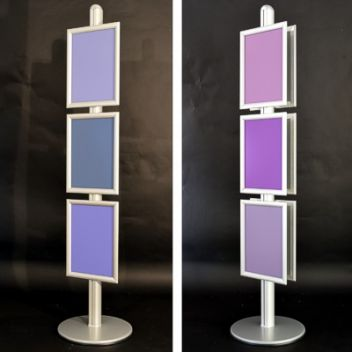 Tall retail poster stands -  3 or 6 A3 frames