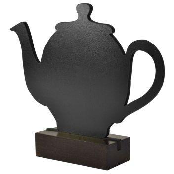 Teapot shaped tabletop chalkboard