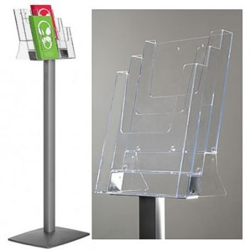 Tiered leaflet stand portable