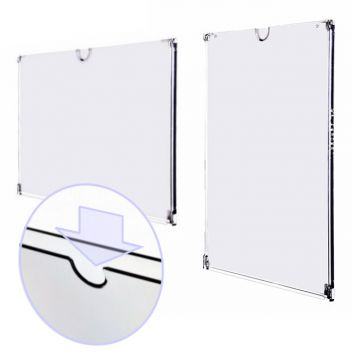 Frameless wall document display holder