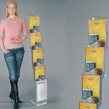Zip brochure display stand