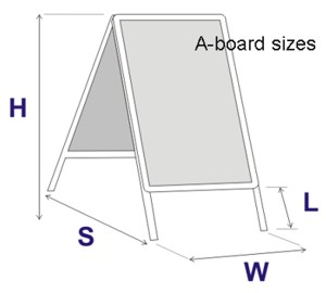 A board sizes