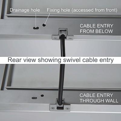 Rear view of external poster lightbox