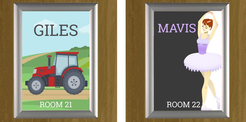 Snap Door Signs Low Cost Door Nameplate Holders With Easy Snap Name Change Sign Holders Co Uk