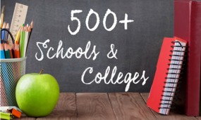 Trusted by over 500 Schools and Colleges